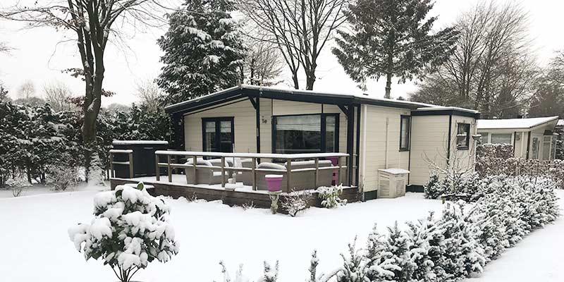 Chalet Douglas in de Sneeuw