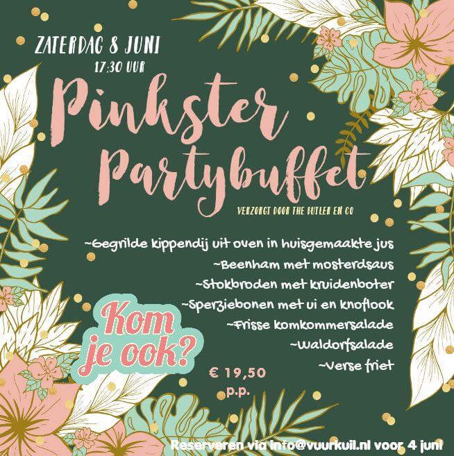 Flyer Pinkster Partybuffet