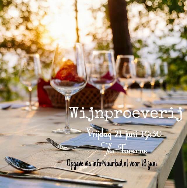 Flyer Wijnproeverij in de Taverne